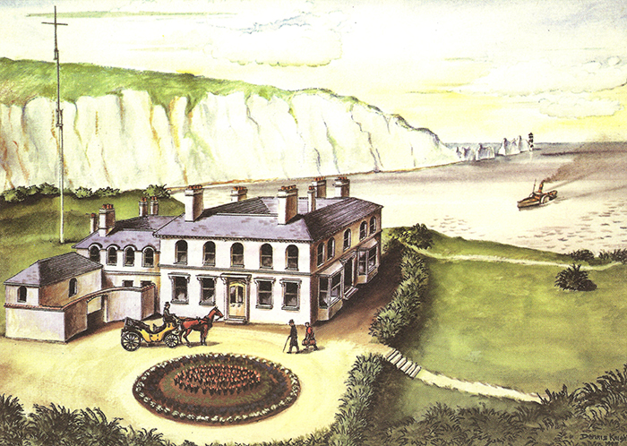 Drawing of Alum Bay Hotel